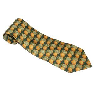GUCCI Lemons Print Silk Tie ~ Made In Italy